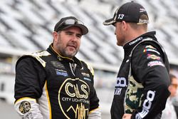 Ty Dillon, Germain Racing, Chevrolet Camaro GEICO Military and Brendan Gaughan, Beard Motorsports, Chevrolet Camaro Beard Oil Distributing/ South Point Hotel & Casino