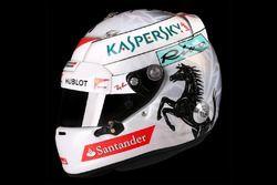 Casque spécial de Sebastian Vettel