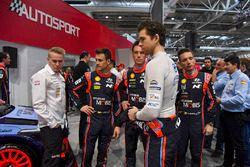 WRC drivers Dani Sordo and Thierry Neuville, Nicolas Gilsoul, Hayden Paddon, Hyundai Motorsport