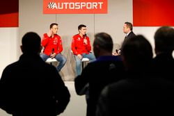 Kris Meeke and Craig Breen of Citroen talk to Henry Hope-Frost on the Autosport Stage