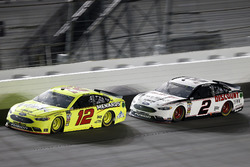Ryan Blaney, Team Penske Ford Fusion, Brad Keselowski, Team Penske Ford Fusion