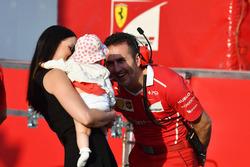 Minttu Virtanen, femme de Kimi Raikkonen, Ferrari avec leur fille Rianna Raikkonen