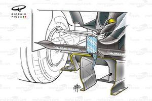 McLaren MP4-18 2003, dettaglio del diffusore