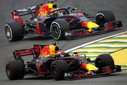 Komparasi mobil F1 Red Bull RB13 2017 vs Red Bull RB14 2018