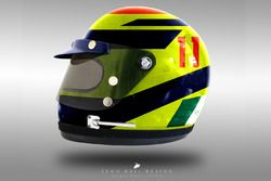 Sergio Perez 1970's helmet concept