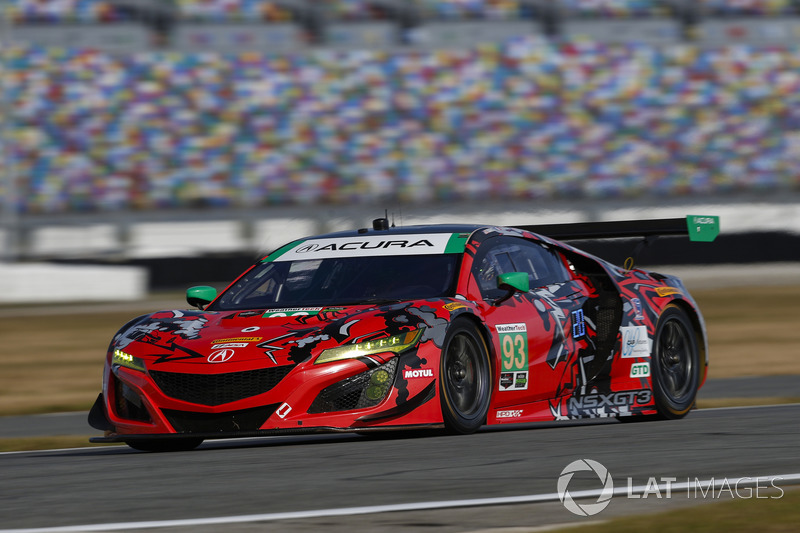 45.- #93 Michael Shank Racing Acura NSX (GTD): Lawson Aschenbach, Justin Marks, Mario Farnbacher, Côme Ledogar