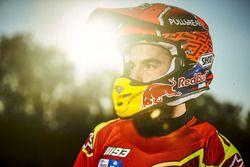 Marc Marquez traint in Cervera, Spanje