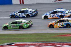 Dale Earnhardt Jr., Hendrick Motorsports Chevrolet and Jimmie Johnson, Hendrick Motorsports Chevrolet