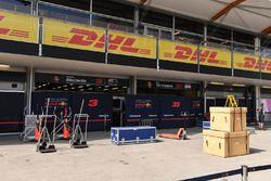 Le garage de Red Bull Racing