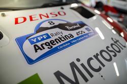 Une plaque du Rallye d'Argentine