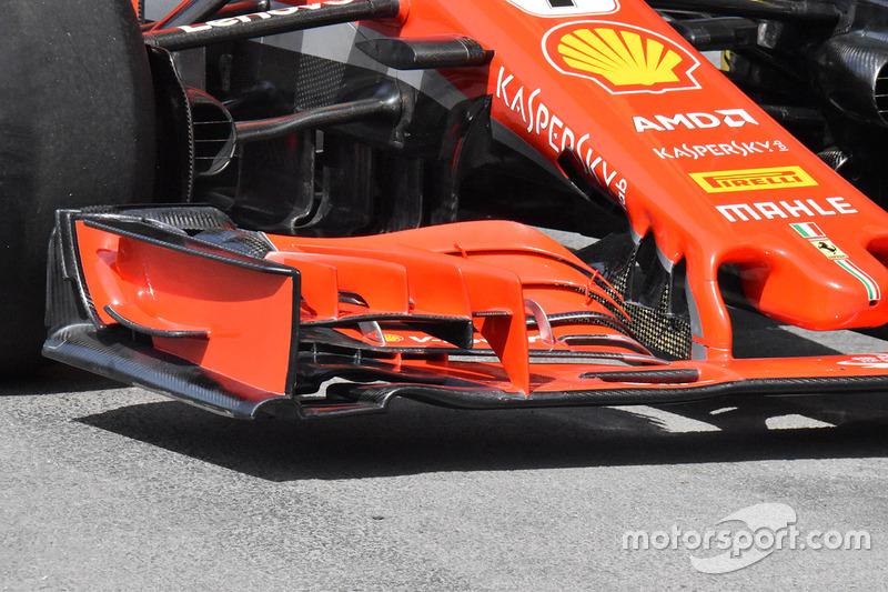 Ferrari SF71H ön kanat detayı