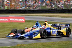 Alexander Rossi, Andretti Autosport Honda, Scott Dixon, Chip Ganassi Racing Honda