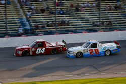 Cory Roper, Roper Racing, Ford F-150 Preferred Industrial Contractors, Inc. and Tanner Thorson, Young's Motorsports, Chevrolet Silverado Randco/Young's Building Systems