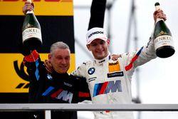 Podio: il vincitore della gara Marco Wittmann, BMW Team RMG