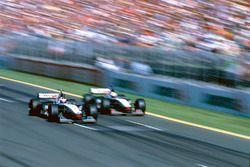 Mika Hakkinen, McLaren MP4/13; David Coulthard McLaren MP4/13
