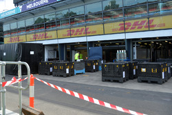 Freight in pit lane