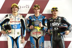 Top 3 after Qualifying: Lorenzo Baldassarri, Pons HP 40 Alex Marquez, Marc VDS Francesco Bagnaia, Sky Racing Team VR46