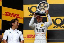 Podium: tweede plaats Lucas Auer, Mercedes-AMG Team HWA with Alex Zanardi, BMW Motorsport