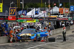 #75 SunEnergy1 Racing Mercedes AMG GT3, GTD: Kenny Habul, Bernd Schneider, Pit Stop