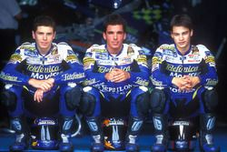 Honda-Junior-Team in der 125cc-Saison 2001: Joan Olive, Toni Elias, Dani Pedrosa