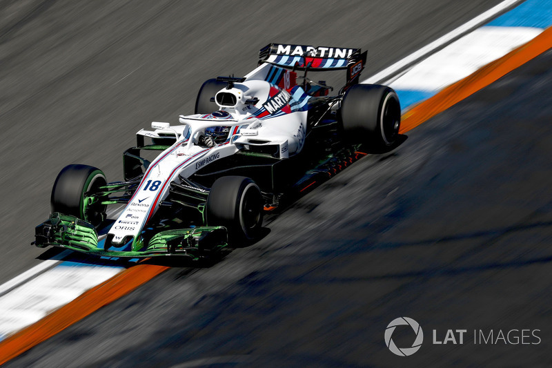 Lance Stroll, Williams FW41, with aero paint