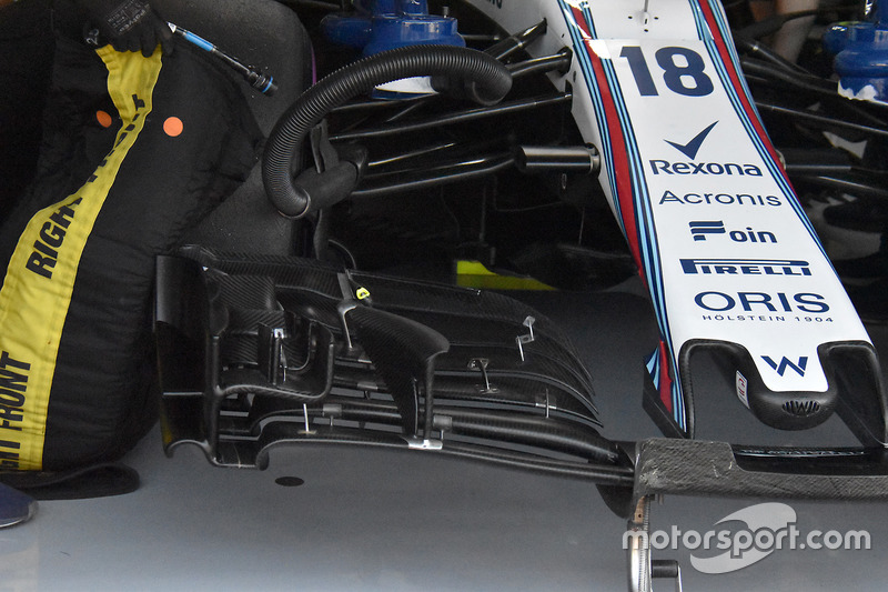 Williams FW41 detalle del ala frontal
