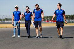 Pierre Gasly, Toro Rosso, walks the track