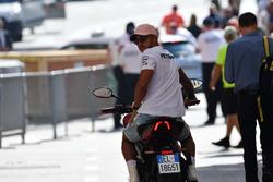 Lewis Hamilton, Mercedes-AMG F1 with a MV Agusta motorbike