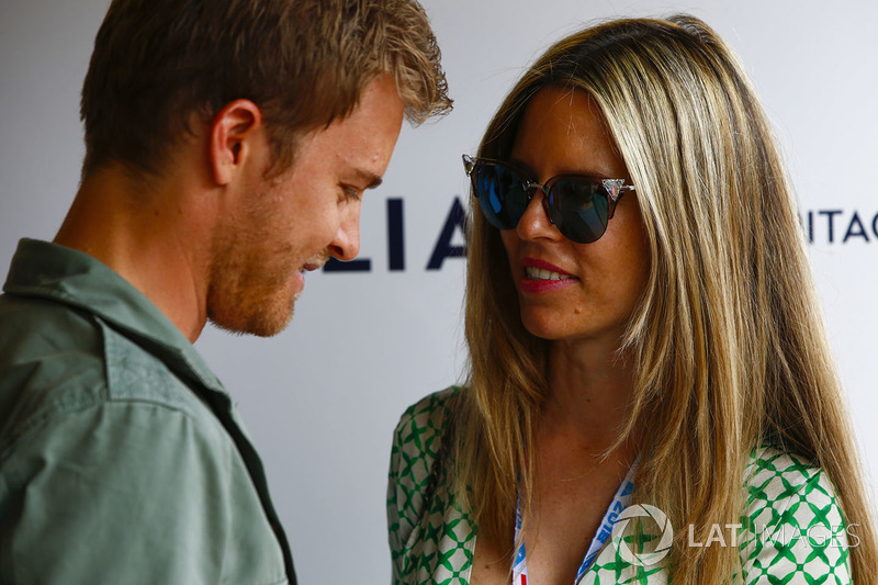 Nico Rosberg with his wife Vivian Sibold