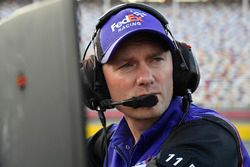 Denny Hamlin, Joe Gibbs Racing, Toyota Camry FedEx Ground crew chief Mike Wheeler
