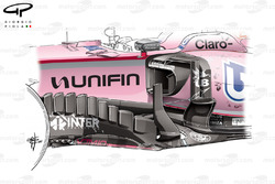Force India VJM10 bargeboard, Mexican GP