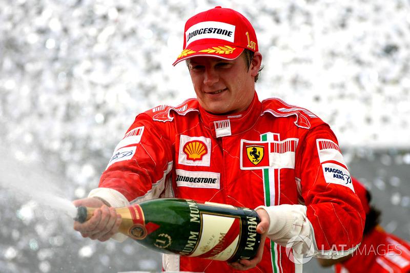Kimi Raikkonen: 8 temporadas en Ferrari (desde 2007 hasta 2009 y desde 2014 hasta 2018)