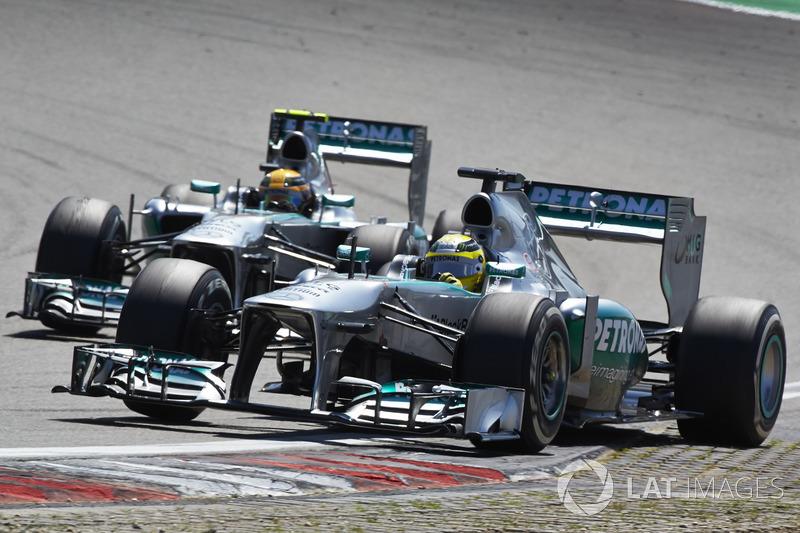 Nico Rosberg e Lewis Hamilton, Mercedes W04