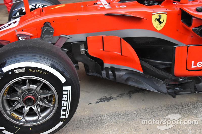 Detail sidepod Ferrari SF71H