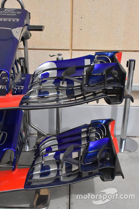 Варианты переднего крыла Toro Rosso STR13