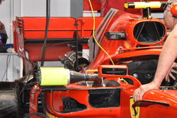 Detalle del alerón trasero del coche de Kimi Raikkonen, Ferrari SF71H