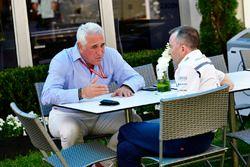 Lawrence Stroll, en Paddy Lowe, Williams aandeelhouder en technisch directeur