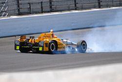 Fuerte choque de Spencer Pigot, Rahal Letterman Lanigan Racing Honda