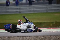 Yonny Hernandez, Aspar MotoGP Team crash