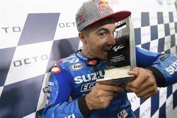 Podium: Ganador, Maverick Viñales, Team Suzuki MotoGP