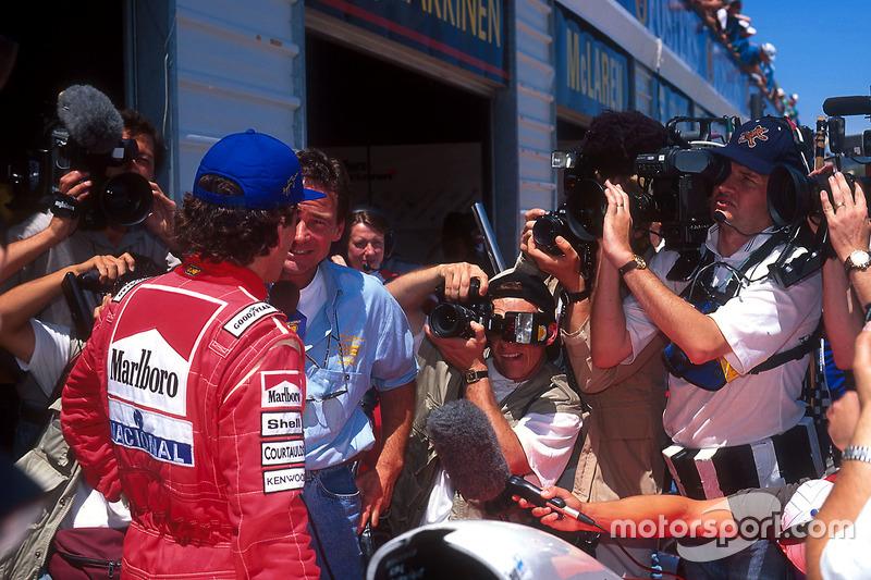 Ayrton Senna, McLaren ve Barry Sheene