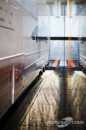 Williams trucks in the paddock