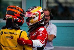 Jack Aitken, Arden International and Charles Leclerc, ART Grand Prix