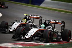 Nico Hülkenberg, Sahara Force India F1 VJM09 et son équipier Sergio Pérez, Sahara Force India F1 VJM09