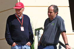 Niki Lauda, Mercedes voorzitter, en Gerhard Berger