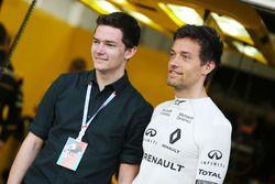 Jolyon Palmer, Renault Sport F1 Team con su hermano Will Palmer