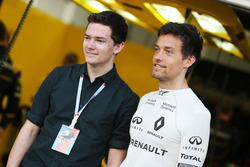 Jolyon Palmer, Renault Sport F1 Team avec son frère Will Palmer