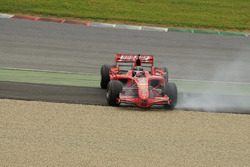 Ferrari F2007 hace giros