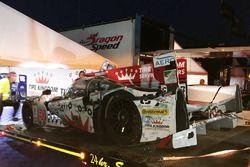Choque del #60 Michael Shank Racing con Curb/Agajanian Ligier JS P2 Honda: John Pew, Oswaldo Negri,