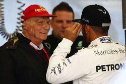 Niki Lauda, Mercedes Presidente no ejecutivo con Lewis Hamilton, Mercedes AMG F1 Team